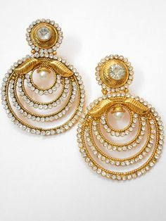 @ http://www.khushrang.com golden indian earrings