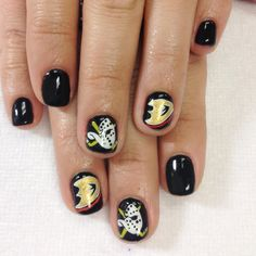 Anaheim Ducks! Nails done by Mai. Make an appointment through my Facebook page. www.facebook.com/rainynails