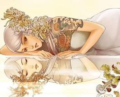 .Glamorous Tattoo Illustrations by Zhang Xiaobai. Xiaobai is a talented illustrator based in Beijing, China. She graduated in Xubeihong Art College of People's University and has chosen to pursue her dream in the arts. Xiaobai creates tattoo illustrations inspired by classical Chinese women. Each illustration is beautiful story.