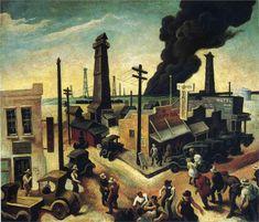 Boomtown, 1928  Thomas Hart Benton