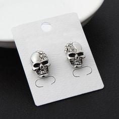 White Skeleton Crystal Earrings - Skullflow    https://www.skullflow.com/collections/skull-earrings/products/white-skeleton-crystal-earrings