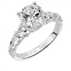 Tisha ArtCarved Diamond Engagement Ring