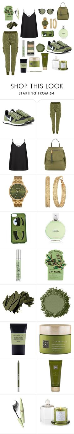 """""""Deconstructed Camo"""" by njpryce ❤ liked on Polyvore featuring NIKE, Superdry, Hermès, Marc Jacobs, Nixon, GUESS, Chiara Ferragni, Chanel, Urban Decay and Tony Moly"""