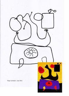 Mujer sentada, Miró