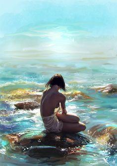 study-fine-art-something-with-love ref: nadya kulikova Water Nymph Woman Painting, Figure Painting, Painting Art, Lake Pictures, Water Nymphs, Water Art, Beauty Art, Erotic Art, Love Art
