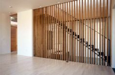 staircase, large house, wood screen