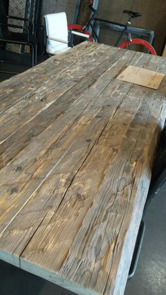 Old Wood, Dining Table, Rustic, Interior, House, Furniture, Home Decor, Country Primitive, Dining Room Table