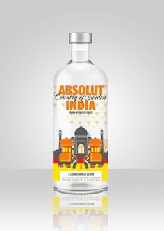 My design entry for the absolut india limited edition bottle graphics. Alcohol Spirits, Wine And Spirits, Cool Packaging, Packaging Design, Cnc Cutting Design, Strong Drinks, Absolut Vodka, Bottle Design, Box Art