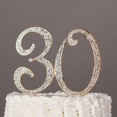 30 Gold Cake Topper - 30th Birthday Anniversary Number Decoration Ideas Party Supplies This beautiful cake topper is the perfect addition for your 30th birthday or anniversary celebration! Also could