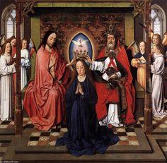 'coronación de la virgen' de Aelbrecht Bouts (1450-1549, Netherlands)