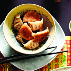 We show you how to make our Chinese five-spice pork dumplings and our vegetarian Tibetan momo dumplings in these two step-by-step videos.