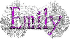 Emily Name Art Drawing