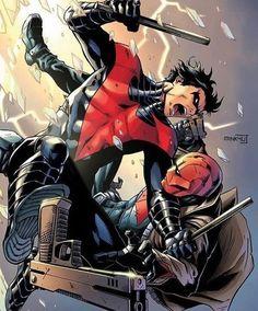 Nightwing vs Red Hood!  #comicsandcoffee