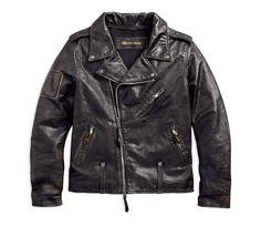 Harley-Davidson Men's Master Distressed biker Jacket - Soomro Brown Leather Jacket Men, Faux Leather Jackets, Leather Men, Harley Davidson Merchandise, Lambskin Leather, Cowhide Leather, Distressed Leather, Mens Clothing Styles, Motorcycle Jacket