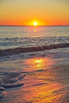 Watching the sunrise on the beach