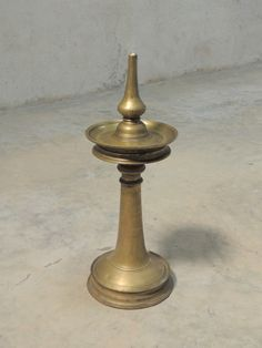2.5 Inch Dia Yellow Exotic India A Wick Lamp with Stand 2 Inch Height