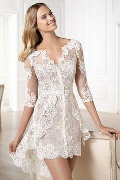 Vestido de novia corto de Pronovias