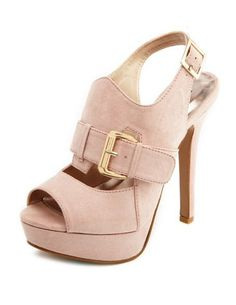 Nubuck Double Buckle Slingback Pump from Charlotte Russe