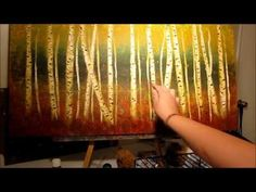 Easy Winter Birch Tree's Acrylic painting tutorial in Acrylic for beginners . This is a fully guided painting anyone can do from home. Acrylic Painting Tutorials, Painting Videos, Painting Lessons, Art Lessons, Watercolor Tutorials, Aspen Trees, Birch Trees, Learn To Paint, Painting Techniques