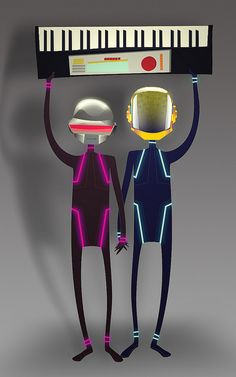 Daft Punk by mariobrito, via Flickr