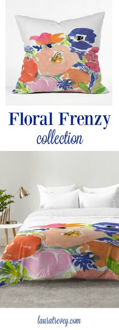 Floral Frenzy collection - Colorful bedding and decor