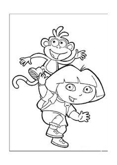 Desenhos para pintar Dora a exploradora 1