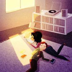 21 illustrations qui résument parfaitement ces petits moments affectueux quand on est en couple ! Adorable !