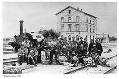 Der Bahnhof Mainz-Bischofsheim 1867.