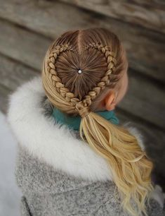 Looking for braided hairstyles ideas but don't know the best source to get the fresh braided hair ideas in Browse here for more elegant and amazing heart shaped braids with beautiful ponytails to get obsessing look. This is one of the fresh styles f Cool Hairstyles For Girls, Cool Braid Hairstyles, Popular Hairstyles, Hairstyle Ideas, Cute Haircuts, Girl Haircuts, Hairstyles Haircuts, Blonde Haircuts, Crazy Hair Days
