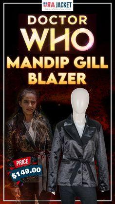 Doctor Who Season 12 Mandip Gill Blazer Doctor Who Shop, Blazer Price, Season 12, Attitude, The Incredibles, Movies, Movie Posters, Shopping, Films