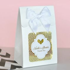 PARTY SUPPLIES - Favor Boxes with Matching Satin Bow