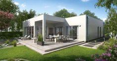 Massivhaus Kern-Haus Bungalow Select Gartenseite
