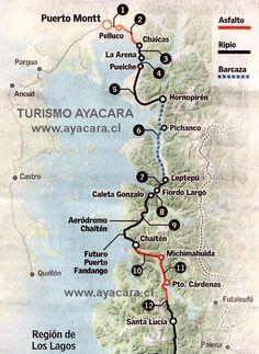 Barges Map Caleta Gonzalo-Hornopiren