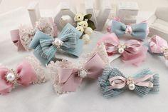 【木木DIY社区】diy发饰配件手工材料丝带套装56#甜美粉蓝系 #ribbon #bow