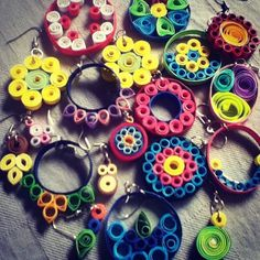 Picture of Quilling Earrings: Simple and Pretty!