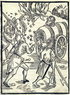 """""""Of Envy and Hate"""". This woodcut is attributed to the artist Albrecht Dürer. It is an illustration from the book Stultifera navis (Ship of Fools) by Sebastian Brant, published by Johann Bergmann in Basel in 1498."""