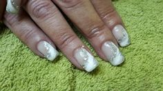 Silver glitter, LCN Recolution Glacier White with clear Swarovski crystals...