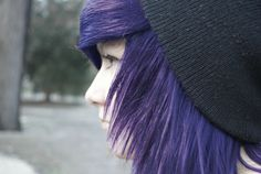 purple and a beanie!