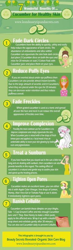 The Beauty Benefits Of Cucumbers (They'll Be Your Skincare Routine's Newest, Best Addition)   Natural Skincare And Beauty Tips by Makeup Tutorials at http://makeuptutorials.com/beauty-benefits-of-cucumbers-makeup-tutorials/