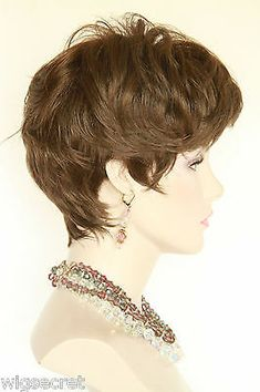Short Straight Layered Pixie Style Tapering at the Nape Blonde Brunette Red Wigs | eBay
