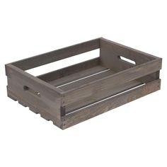 Kisten & Palette 18 Zoll x Zoll x Zoll Halbe Kiste in verwittertem Grau - Wooden Crates Bookshelf Pallet Crates, Wooden Crates, Wooden Diy, Small Bookshelf, Crate Bookshelf, Tote Storage, Storage Organization, Unfinished Wood Crates, Rolling File Cabinet