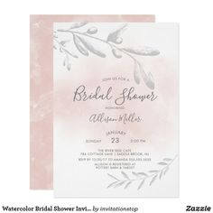 If you are looking for a beautiful selection of watercolor themed bridal shower invitations for your celebration then you have come to the right place as we've curated some of the best picks just for you. Zazzle Invitations, Party Invitations, Invites, Bridal Shower Invitation Wording, Birth Announcement Boy, My Bridal Shower, Pink Watercolor, White Elephant Gifts, Paper Design
