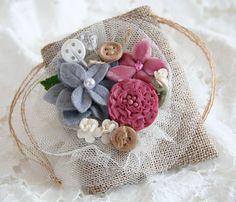 Linen Burlap Treasure Bag