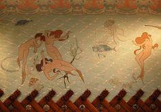 """""""Sala de les Sirenas, del Hotel Espanya"""" (1903) de Lluís Domènech i Montaner - Ramon Casas [En Barcelona, Catalunya]  Información del hotel: http://www.hotelespanya.com/en/events/sirenas-3/  Gracias a Frank :)"""