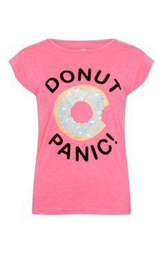 Primark - Pink Donut Care Pyjama Top