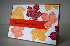Herbstlaub-Karte