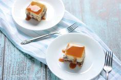 Hello National Cheesecake Day - so good to see you! We're celebrating with decadent Caramel Overload Cheesecake Bars! I love coffee (straight up black, please!) alongside a sweet dessert, like chee...