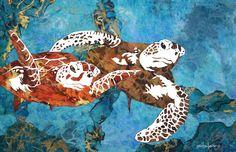 """""""Animals Wet & Wild"""" at ArtSpace, 231 E Main St, Round Rock, TX 78664 featuring Fine Ocean Life Artist Marcy Ann Villafana June 2016 Round Rock, Photo Series, Wet N Wild, Custom Art, Mosaic Art, Fine Art Paper, It Works, Illustration, Artist"""