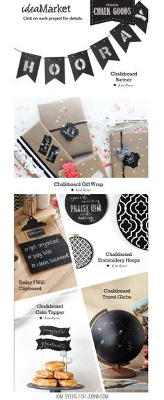 Chalkboard Crafts | Kim Byers for JoAnn.com