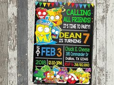 Grossery Gang Birthday Invitation PRINTABLE DIGITAL FILE Please read the listing description before you place your order This is a printable invitation that is emailed as a high resolution (300dpi) JPG and PDF file formats as well. Digital File only, no physical product will be
